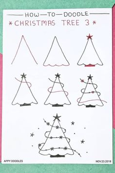 Best Bullet Journal Christmas Doodle Ideas For 2019 The ultimate colle. Best Bullet Journal Christmas Doodle Ideas For 2019 The ultimate collection of CHRISTMAS doodles for your Christmas Doodles, Diy Christmas Cards, Christmas Art, Simple Christmas, Holiday Crafts, Christmas Cards Drawing, Christmas Calligraphy Cards, Handmade Christmas, Easy Christmas Drawings