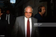 Salvatore 'Tom Mix' Santoro, underboss of the Luchese Crime Family, is photographed during the Commission trial leaving the Federal Courthouse in Manhattan, New York City, September 24, 1986.