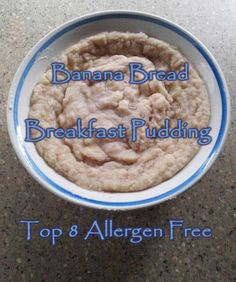 Looking for a new favorite breakfast? Look no further. This Banana Bread Breakfast Pudding will spice up your breakfast routine. It is top 8 allergen free and bursting with banana goodness! Gluten Free, Grain Free, and Added Sugar Free too!