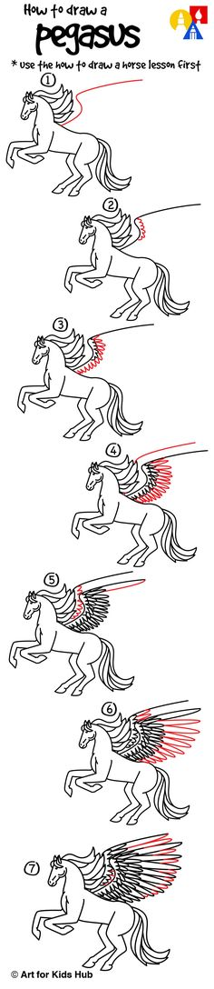 How to draw a realistic pegasus!