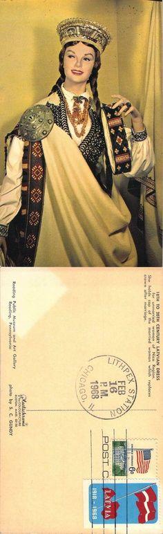 Latvia 1968 Post Card USA IL