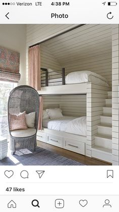 20 Cool Bunk Beds for the Coolest Siblings Ever. Dealing with small space and building a strong bond between two siblings can be challenging. But one of these cool bunk beds may help you with that. Bunk Bed Rooms, Bunk Beds Built In, Modern Bunk Beds, Cool Bunk Beds, Kids Bunk Beds, Bunk Bed Ideas For Small Rooms, Built In Beds For Kids, Bunk Beds For Girls Room, Room Girls