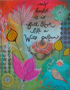 """Wild Garden"" is an 11x14 inch acrylic painting. Christina Minasian"