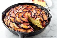 This easy Plum Skillet Cake Recipe with hints of orange, cinnamon and ginger, is simple to prepare and a lovely treat for tea time or any time of the day.