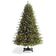 Grand Fir Artificial Christmas Tree with Wheeled Stand