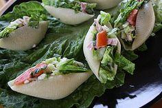 Mediterranean Salad Stuffed Shells - Fun Salad plating Idea