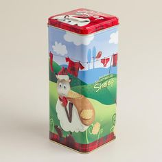 One of my favorite discoveries at WorldMarket.com: Walkers Shortbread Sheep Tin