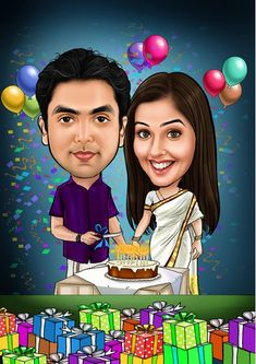 Caricature Gifts, Wedding Caricature, Corporate Giveaways, Birthday Cartoon, Shree Ganesh, Gifts For An Artist, Personalized Invitations, Couple Art, Durga