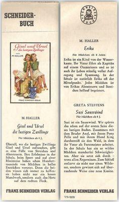 Gisel und Ursel die lustigen Zwillinge [Lesezeichen] : Schneider-Buch von | LibraryThing
