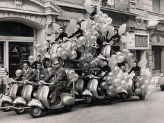 Vespa parade float