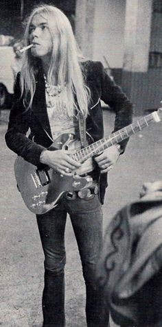 Gregg Allman waiting to go onstage with the Allman Brothers at San Diego Sports Arena, September 9, 1974