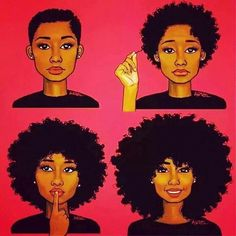 Stages of natural hair