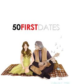 Once Upon a Time / 50 First Dates - Rumpelstiltskin and Belle (by Lulu)