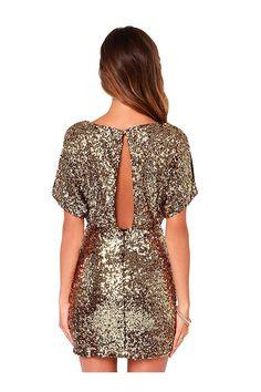 Vestido de lentejuelas con Fotografica Volver - US $ 25.95 -YOINS