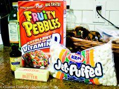 Fruity pebble rice crispy treats !