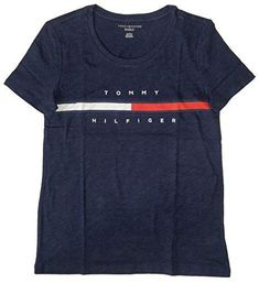 Tommy Hilfiger Women's Big Logo Line T-Shirt