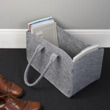Felt Magazine Storage Bag: Grey - Detail.Jsp?Rpid=0=0 - £24.99 - The Contemporary Home Online Shop