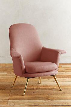 Linen Kimball Chair - anthropologie.com
