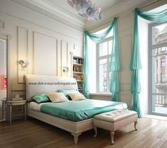turkuaz yatak odası