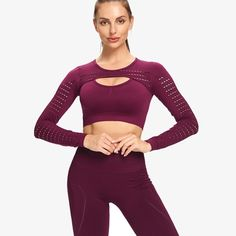 Fitness Yoga Set 2-Piece Leggings Push Up Pants Suit Sportswear Athletic - TD Mercado Crop Top And Leggings, Pink Party Dresses, Backless Mini Dress, Dress For Short Women, Seamless Leggings, Sport Pants, Sportswear, How To Wear, Sporty Outfits