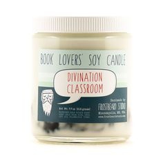 Divination Classroom - Soy Candle - Book Lovers' Soy Candle - 8oz jar - April Scent of the Month