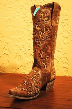 I love these leopard print cowboy boots! Thought of @Denise H. H. H. grant Johnson when I saw these!
