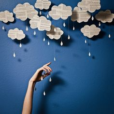 Paper rain; so doing this for my little boys room!