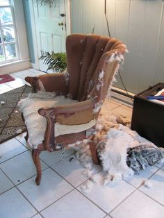How to Re-upholster a Chair When You Have No Idea What You are Doing.
