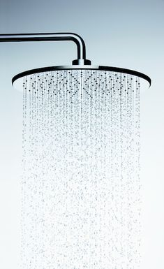 Rain showers are the ultimate spa-like feature you can have in your own bathroom. Showerheads And Body Sprays, Dewalt Tools, Luxury Shower, Rain Shower, Shower Faucet, Shower Heads, Branding Design, New Homes, Chandelier