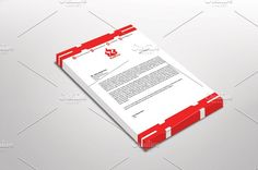 RedFire Letterhead Template by Dueza.Com on @creativemarket