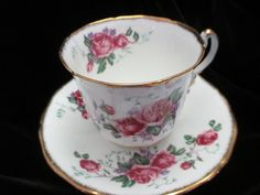Adderly of England Beautiful Roses Cup and Saucer by Cupsofthepast, $15.00