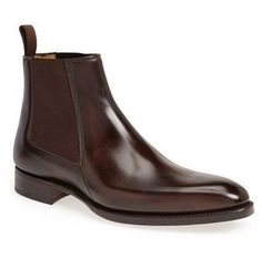 Details about Handmade Mens Genuine Brown Leather Ankle Oxford Brogue Chelsea Formal Boots - Leather Boots - Ideas of Leather Boots - Handmade men chelsea boots brown leather boots for men men ankle boots Suede Leather Shoes, Brown Leather Boots, Leather Men, Soft Leather, Real Leather, High Ankle Boots, Slip On Boots, Shoe Boots, Men's Boots