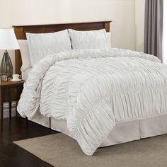Lush Decor Venetian 4-Piece White Comforter Set $92.79