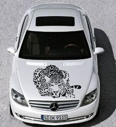 Amazon.com - Auto Car Vinyl Decal Animal Cat Cheetah Leopard for Hood Decor Removable Stylish Sticker Unique Design Any Vehicle - Wall Murals ☺  ☻  ☻
