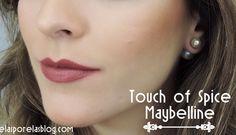 Batom Touch of Spice Maybelline Matte - Pantone Color2015 - Marsala (2)