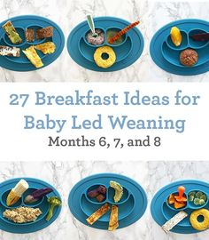 Baby led weaning breakfast ideas for the first 6 to 9 months. led weaning breakfast ideas for baby led weaning to 9 months) - Inspiralized Baby Led Weaning 7 Months, Baby Led Weaning First Foods, Baby First Foods, Baby Weaning Recipes 6 Months, Baby Led Weaning Lunch Ideas, Baby Finger Foods, Baby Lef Weaning, Baby Lead Weaning Recipes, Baby Food Recipes 6 9