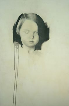 Kenichi Hoshine - Untitled 11, Graphite, Charcoal, Acrylic Emulsion on Canvas mounted on Wood