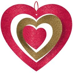 Amscan 11 in. Valentine's Day Spinning Heart Hanging Decoration - The Home Depot Valentines Day Cards Diy, Valentine Day Love, Valentine Crafts, Valentines Baking, Valentine Ideas, Heart Decorations, Valentine Decorations, Glitter Decorations, Red Mason Jars