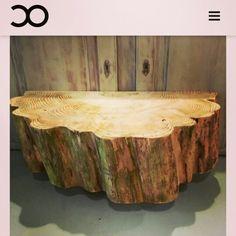 Combinatie van een tv-meubel en salontafel van een Abies. De laatste en meest unieke in zijn soort!  #boomstamtafel #tvmeubel #abies #salontafel   http://www.creativeopen.nl/product/boomstam-tv-meubel/