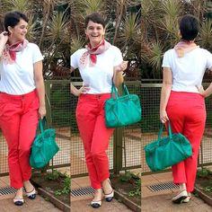 LEILA DINIZ advogada blogueira youtuber: #LookDoDia calça vermelhona + camisetinha branca +...