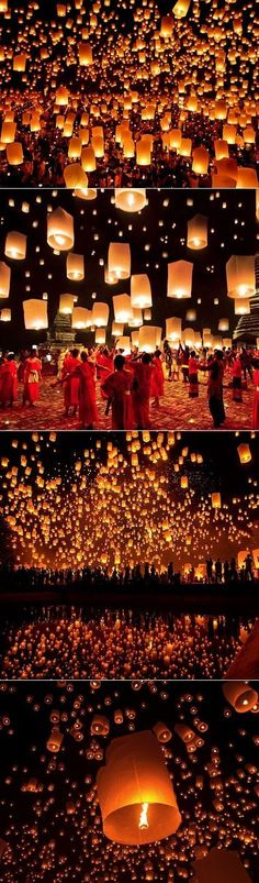 Each November the city of Chiang Mai in Thailand transforms into the most mesmerizing lantern festival called yi peng #AsiaTravel