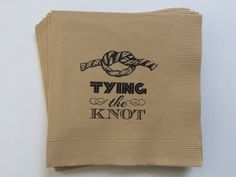 Tying the Knot Wedding Cocktail Napkin, Set of 50