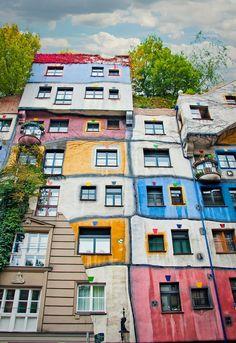 Hundertwasserhaus Apartment Complex . Vienna Austria