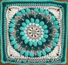 [Free Pattern] Add Beauty And Texture To Any Project With This Gorgeous Mandala Square Pattern - Knit And Crochet Daily