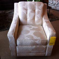 La Z Boy swivel glider occasional chair.