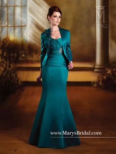 Satin Mermaid Asymmetrical Waistline Gown