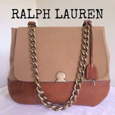 "Spotted while shopping on Poshmark: ""AUTHENTIC RALPH LAUREN CANVAS/ genuine leather bag""! #poshmark #fashion #shopping #style #Ralph Lauren #Handbags"