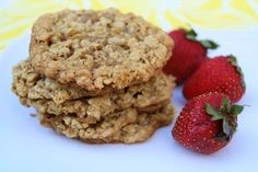 Coconut Peanut Butter Oatmeal Cookies. I think these may need dark chocolate chips too.