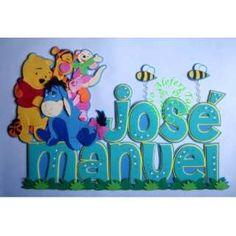 foamy wall decor for Boys too! Name Art, Ideas Para, Winnie The Pooh, Smurfs, Kids Room, Banner, Felt, Wall Decor, Names