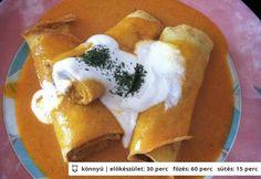 Gluténmentes hortobágyi húsos palacsinta Curry, Tacos, Paleo, Food And Drink, Mexican, Pudding, Tej, Ethnic Recipes, Desserts